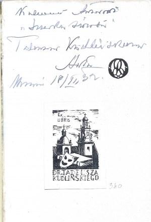 Schroeder Artur ŚWIATŁA NA WODZIE, AUTOGRAF Wyd.1932