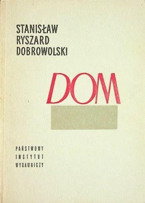 DOBROWOLSKI Stanisław Ryszard - Dom i inne wiersze, Wydanie1 DEDYKACJA AUTORA