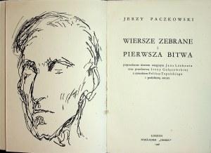 PACZKOWSKI Jerzy - Wiersze wybrane i Pierwsza bitwa, Wydanie 1 w tej edycji
