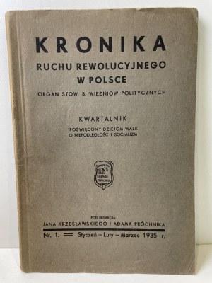 KRONIKA ruchu rewolucyjnego w Polsce Tomy I-V, nr 1-19 [komplet]
