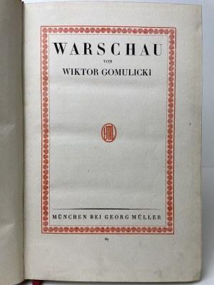 GOMULICKI Wiktor - Warschau.Monografia Warszawy od jej powstania do schyłku rządów cara Mikołaja II