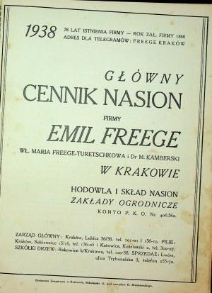 CENNIK nasion E. Freege 1938