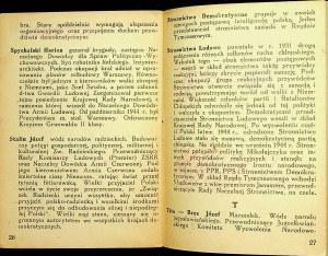 SŁOWNICZEK polityczny dla żołnierzy. B. m. maj 1946