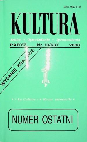 KULTURA PARYŻ Nr.10/637 2000 CZESŁAW MIŁOSZ OSIECKA !