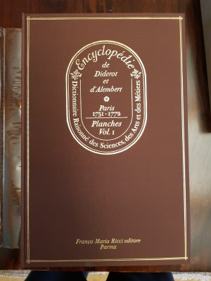 ENCYKLOPEDIA DIDEROT D`ALAMBERT FACSIMILE PIERWSZEGO WYDANIA PIERWSZEJ NA ŚWIECIE ENCYKLOPEDII, PARMA 1970
