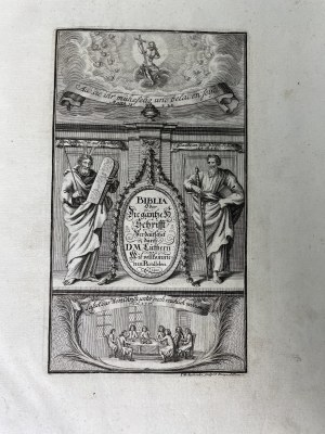 BIBLIA GERMANICA STARGARD 1707 ILUSTROWANA!