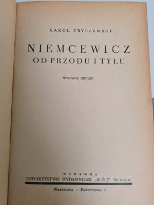 Zbyszewski Karol NIEMCEWICZ OD PRZODU I TYŁU