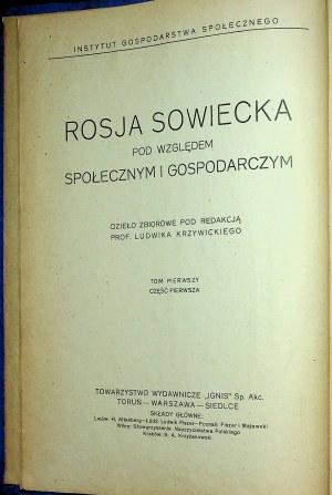 [ROSJA] Polityka przemysłowa, finansowa i agrarna Rosji sowieckiej.POLITYKA w zakresie wymiany i aprowizacji. Polityka robotnicza Rosji sowieckiej.[Współoprawnie]