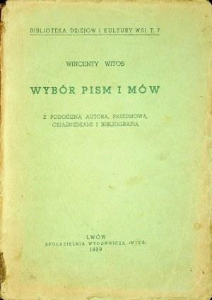 WITOS Wincenty – Wybór pism i mów z podobizną autora, przedmową, objaśnieniami i bibliografią