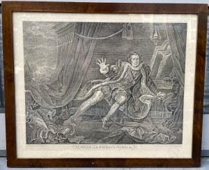 [HOGARTH - SZEKSPIR] LITOGRAFIA David Garrick w postaci Ryszarda III