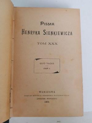 Sienkiewicz Henryk QUO VADIS, Wyd.1901
