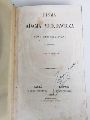Mickiewicz Adam PISMA t.1-6 Paryż PIERWODRUKI