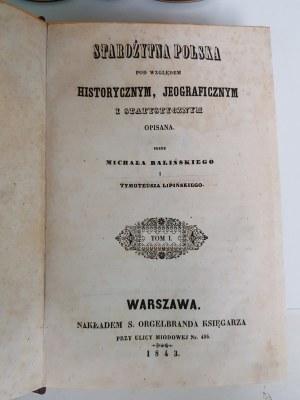 Baliński Lipiński STAROŻYTNA POLSKA Wydanie 1
