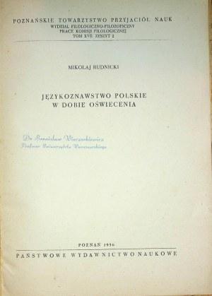 RUDNICKI Mikołaj – Językoznawstwo polskie w dobie Oświecenia.