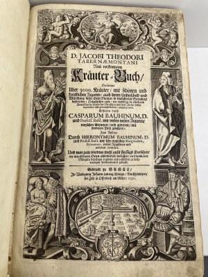 [ZIELNIK] Tabernaemontanus Jacob Theodor Nowa doskonała księga ziół 1731
