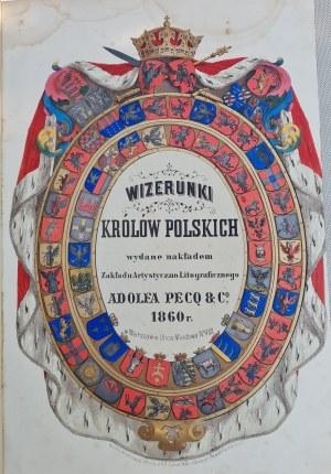 [LESSER] WIZERUNKI KRÓLÓW POLSKICH DUŻE FOLIO Z KOMPLETEM 44 TABLIC