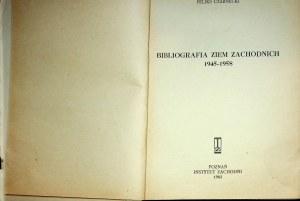 CZARNECKI Feliks - Bibliografia ziem zachodnich 1945-1958