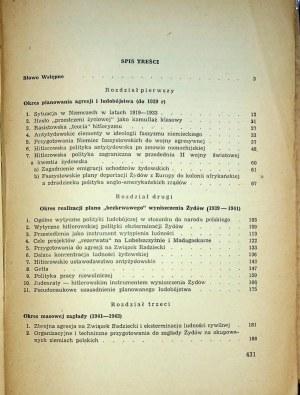 EISENBACH Artur - Hitlerowska polityka eksterminacji Żydów w latach 1939-1945