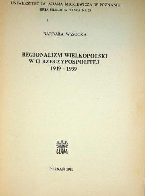 WYSOCKA Barbara – Regionalizm wielkopolski w II Rzeczypospolitej