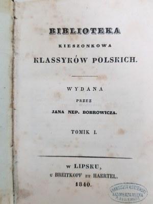 Krasicki Ignacy DZIEŁA BIBLIOTEKA KLASSYKÓW POLSKICH