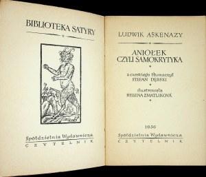 Askenazy Ludwik ANIOŁEK CZYLI SAMOKRYTYKA Wyd 1