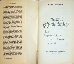Birenbaum Halina NAWET GDY SIĘ ŚMIEJĘ Autograf