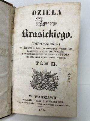 KRASICKI Ignacy - Dzieła t. II - Warszawa 1830 r.