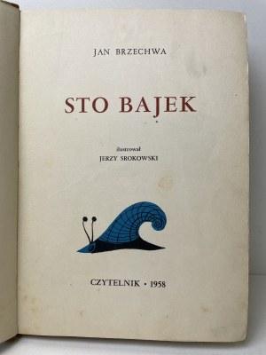 BRZECHWA Jan - Sto bajek. Ilustracje Srokowski WYDANIE 1