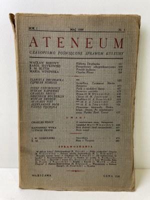 ATENEUM. Czasopismo poświęcone sprawom kultury. Rok I, nr 3, maj 1938 r.