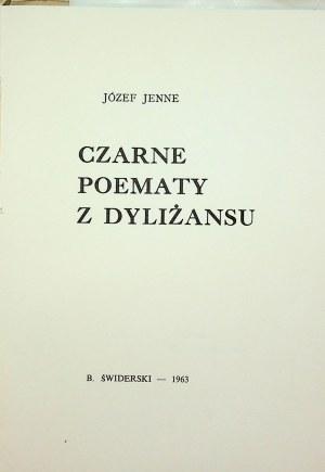 Jenne Józef CZARNE POEMATY Z DYLIŻANSU