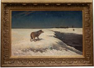 Alfred Wierusz-Kowalski (1849 Suwałki - 1915 Monachium), Wilki zimą