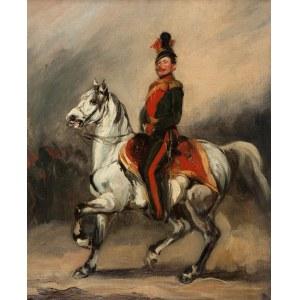Piotr Michałowski (1800 Kraków – 1855 Krzyżtoporzyce), Huzar austriacki na koniu (Eustachy Dunin-Wąsowicz), ok. 1840 (?)