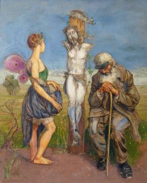Wlastimil Hofman (1881 Praga - 1970 Szklarska Poręba), Scena symboliczna, 1913 r.
