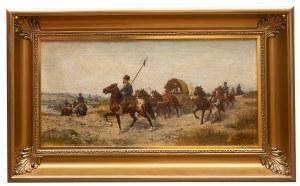 Ludwik Gędłek (Kraków 1847 - Wiedeń 1904), Przeprawa przez rzekę