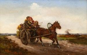 Tadeusz Rybkowski (1848 Kielce – 1926 Lwów), W drodze - latem