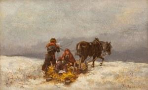 Tadeusz Rybkowski (1848 Kielce – 1926 Lwów), W drodze - zima