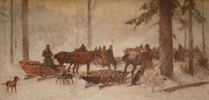 Adam Setkowicz (1875 Kraków - 1945 tamże), Zimowe polowanie