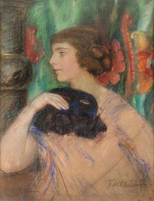 Teodor Axentowicz (1859 Braszów/Rumunia - 1938 Kraków), Dama z maską balową
