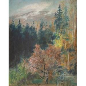 Wlastimil Hofman (1881 Praga - 1970 Szklarska Poręba), Pejzaż, 1965 r.