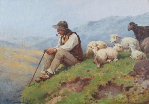 Adam Setkowicz (1875 Kraków - 1945 tamże), Góral na hali