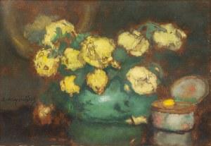 Alfons Karpiński (1875 Rozwadów - 1961 Kraków), Róże żółte, 1933 r.