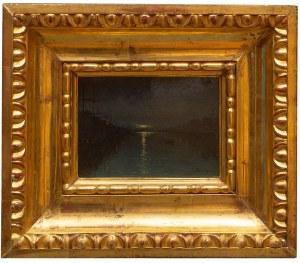 Ferdynand Ruszczyc (1870 Bohdanów k. Oszmiany - 1936 tamże), Nokturn- Nocny widok portu w Petersburgu, 1893 r.