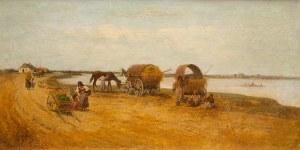 Franciszek Streitt (1839 Brody – 1890 Monachium), Cyganie w oczekiwaniu na przeprawę