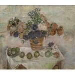 Tytus Czyżewski (1880 Przyszowa - 1945 Kraków), Martwa natura z kwiatami i jabłkami