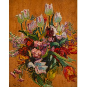 Jean Peské (1870 Gołta/Ukraina-1949 Le Mans), Martwa natura z kwiatami