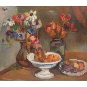 Henryk Epstein (1891 Łódź - 1944 Auschwitz), Martwa natura z kwiatami i owocami