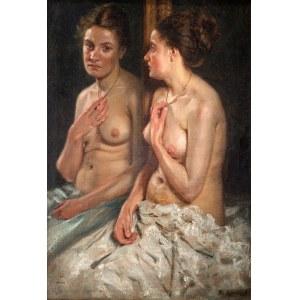 Albert Lipczinski (1876 Lebork – 1974 Sopot), Portret Elisabeth z lustrem