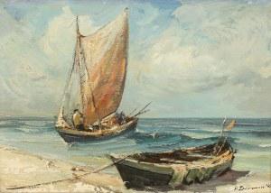 Henryk Baranowski (1932 Starogard Gdański - 2005 Gdynia), Łodzie na plaży