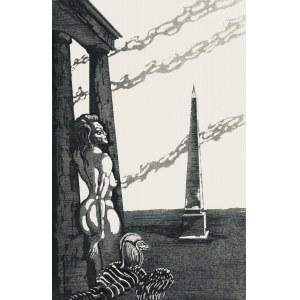 Jan Lebenstein (1930-1999), Kobieta i obelisk, 1985
