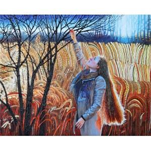 Angelika Mus-Nowak (ur. 1990), W złotych trawach, 2021